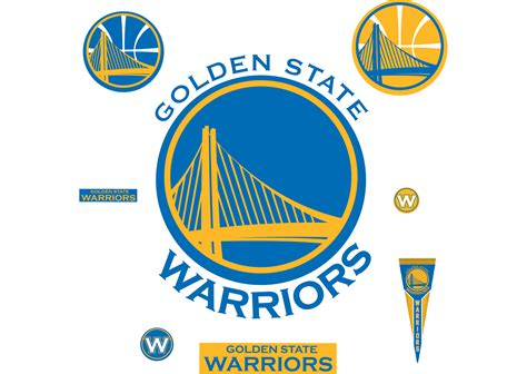 golden state warriors logo wall decal shop fathead 174 for