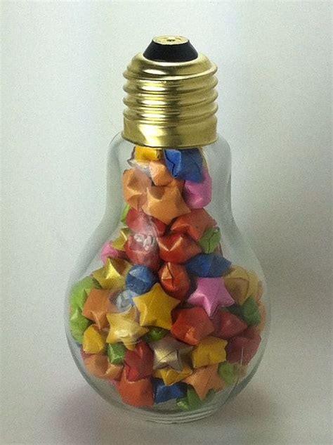 jar light bulb light bulb jar filled with origami lucky feeling