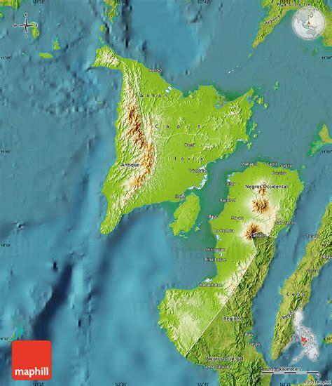 phil map via satellite physical map of region 6 satellite outside