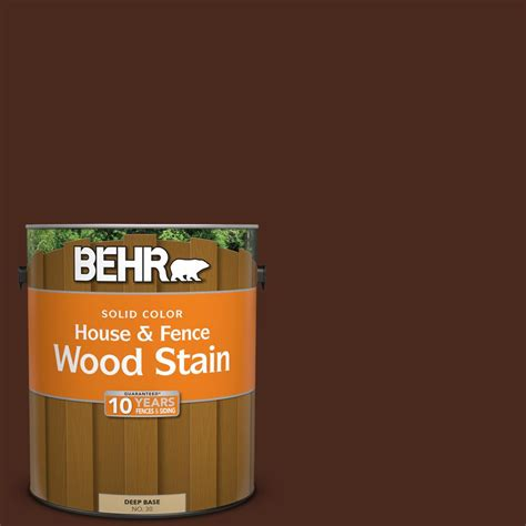 behr  gal sc  russet solid color house  fence