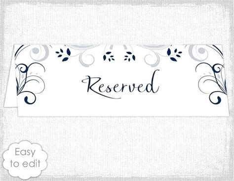 reserved place card template tent cards template image tent place card template free