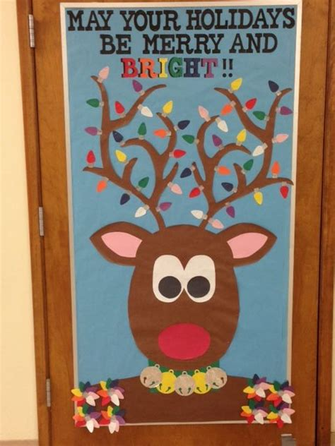 oh deer classroom decoration craft reindeer holidays winter bulletin board classroom wall