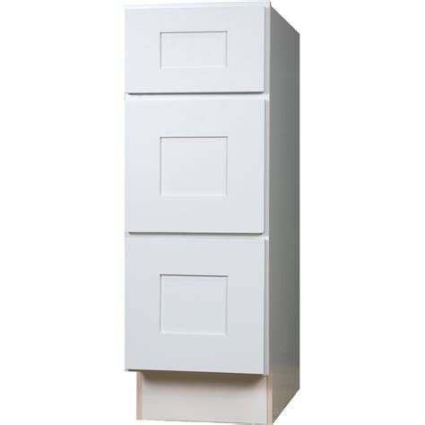 3 drawer bathroom vanity bathroom vanity three drawer base cabinet in shaker white