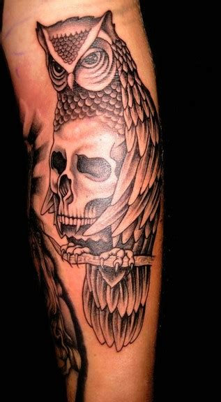 owl tattoo meaning death owl and skull tattoo designs