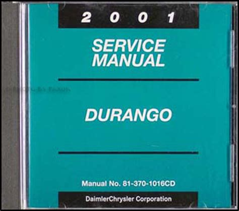 2001 dodge durango original service manual download manuals 2001 dodge durango cd rom repair shop manual original