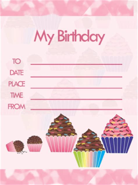 free printable birthday invitations without downloads printable cupcake birthday party invitations