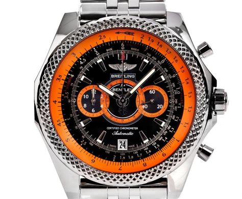 breitling bentley back montre breitling orange