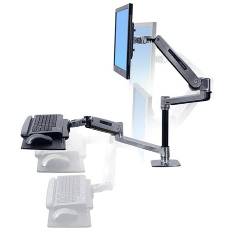 ergotron sit stand desk mount ergotron workfit lx sit stand desk mount system 45 405 026
