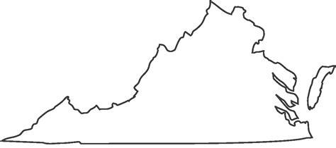 Virginia State Outline by Virginia State Outlines Clipart