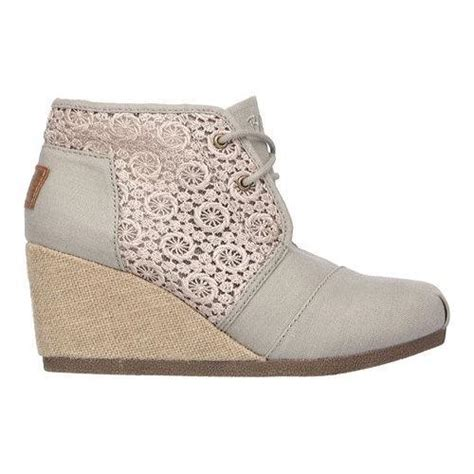 Wedges Boots Skechers Bobs Ori 100 s skechers bobs high notes rocket wedge bootie taupe