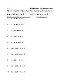 quadratic equation worksheet davezan