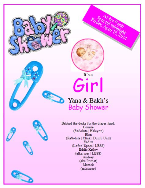 baby shower poster template baby shower flyer template publisher