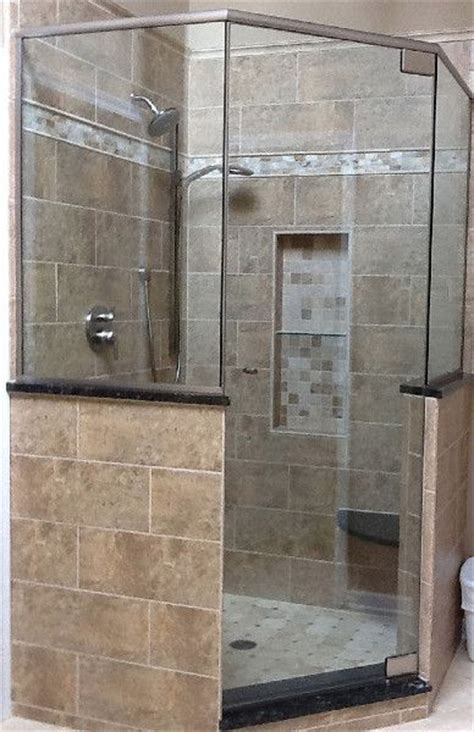 Longch Neo Small 16 neo angle glass shower doors binswanger glass neo angle shower enclosure with pony walls and