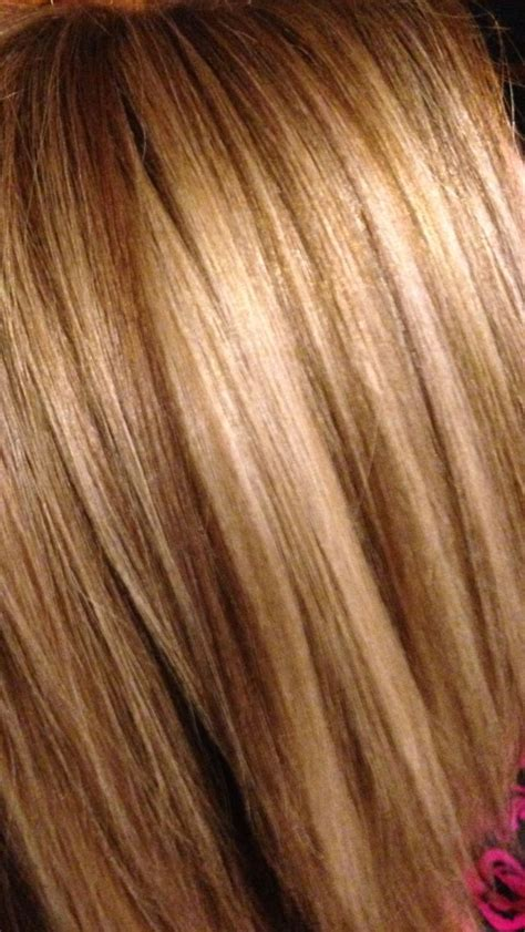 oval foil hair color multi blonde foils with brown copper lo lights hair