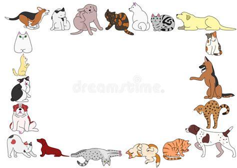Clipart Gatti Pagina Di Varie Posizioni Dei Gatti E Dei Cani