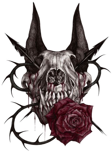 wolf skull by xx samira hunter xx on deviantart