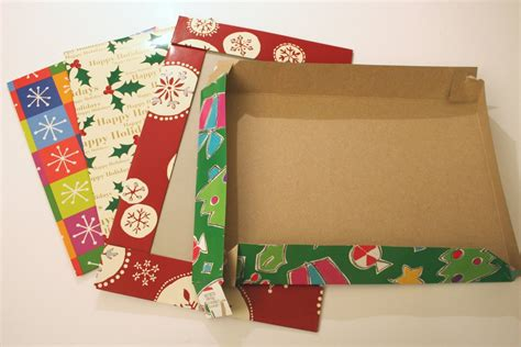 Christmas Gift Boxes For Gift Cards - christmas postcards from recycled gift boxes chica and jo