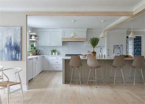 taupe stools  taupe kitchen island transitional kitchen