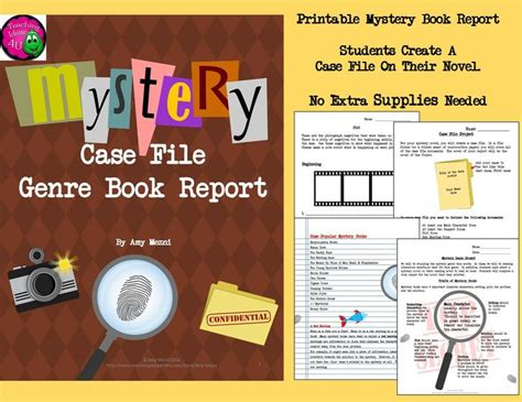 mystery book report projects mystery genre book report quot file quot project rubric