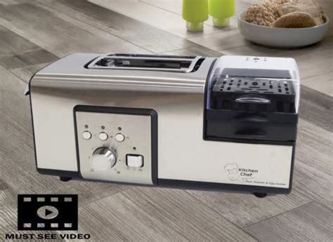 Toaster With Egg Cooker S Steel 2 Slice Toaster With Egg Cooker Poach Non Stick
