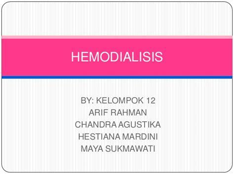 format askep hemodialisa hemodialisis