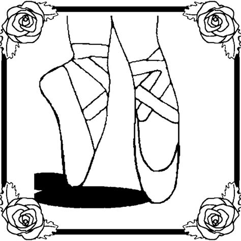 ballerina slippers coloring pages coloring activity pages ballet slippers coloring page