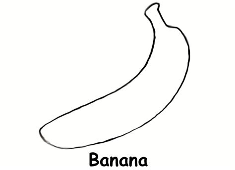 free coloring pages of outline of a banana