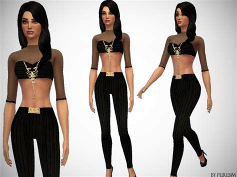 Tetonis Ts 24 Black 1 sims 4 black hair