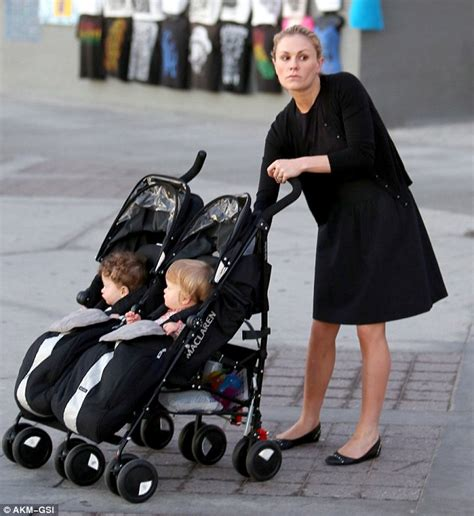 Britbox On Tv anna paquin pushes 15 month old twins charlie and poppy in