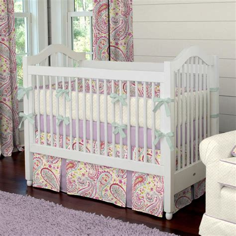 coverlet baby watercolor paisley crib bedding carousel designs