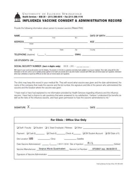 vaccine consent form forms health services of illinois