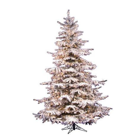 pre lit flocked tree 7 5ft pre lit artificial tree white flocked