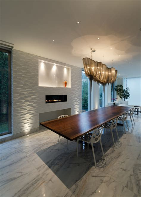 Linear Dining Room Lighting Atlantis Linear Chandelier By Terzani Contemporary Dining Room Chicago By Lightology