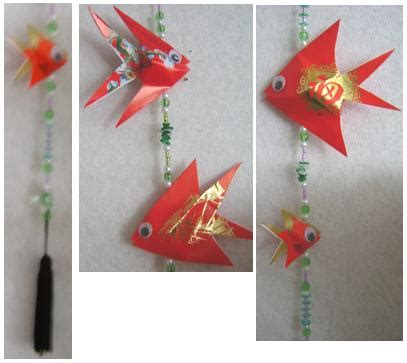new year decoration fish lai see money packet fish lai see
