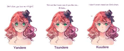 Mememe Meaning - yandere tsundere and kuudere by luumies on deviantart