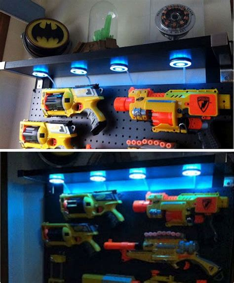 Nerf Bedroom Ideas by This Nerf Gun Display Is For A Boy S Room