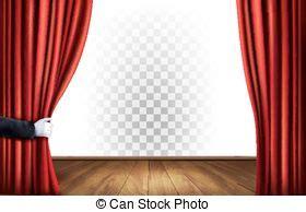 rode doorzichtige gordijnen gordijnen theater transparant vector achtergrond