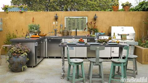outside kitchens ideas 25 cool and practical outdoor kitchen ideas hative