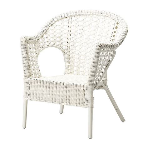 white wicker armchair finntorp chair ikea
