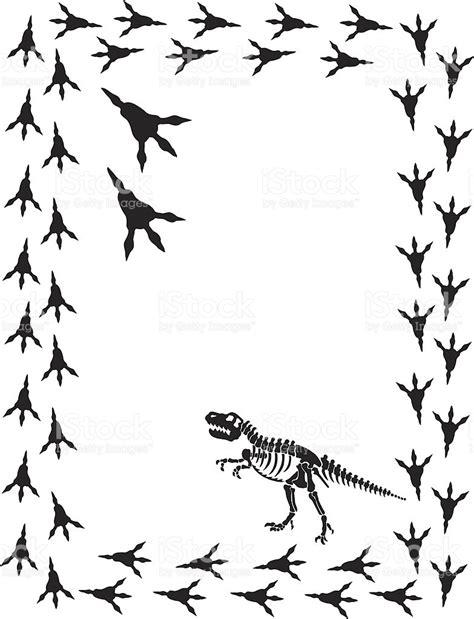 dinosaur tyrannosaurus rex with footprints stock vector