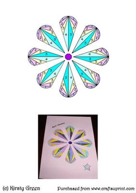 free fold it flower card template iris folding stained glass flower pattern cup414899 1914