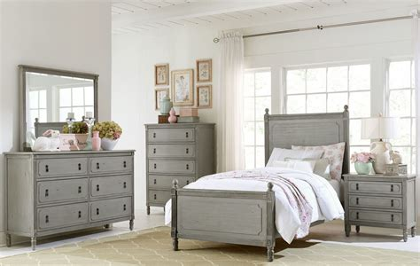 aviana grey youth poster bedroom set from homelegance