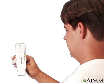 crouse emergency room peak flow meter use series multimedia encyclopedia health information st luke s hospital