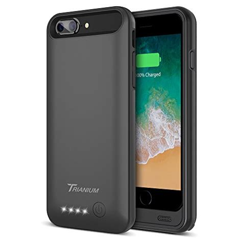 iphone    battery case trianium atomic pro mah extended   battery portable