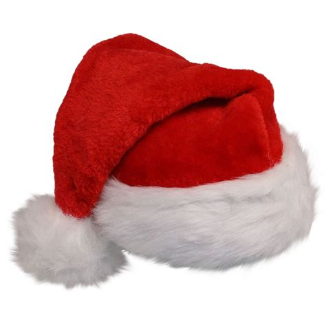 images of christmas cap deluxe plush santa hat