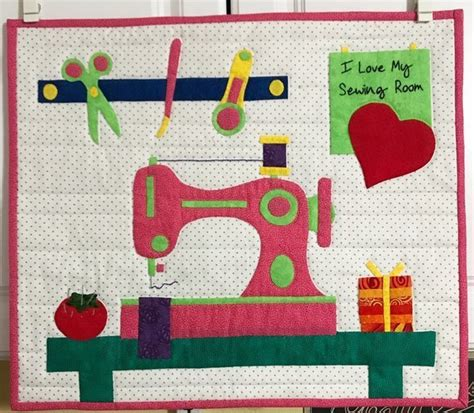 i love the applique i love my sewing room pattern jk quilts