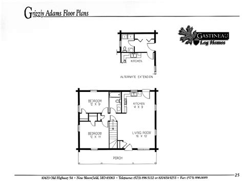 House On The Prairie House Floor Plans Casual Cabin Living Collection