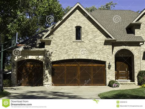 typical home typical american house with two door garage stock photo image 26903616