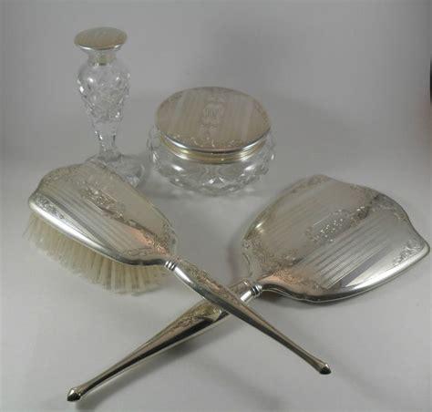 silver mirror dresser set vintage birks sterling silver vanity dresser set hand