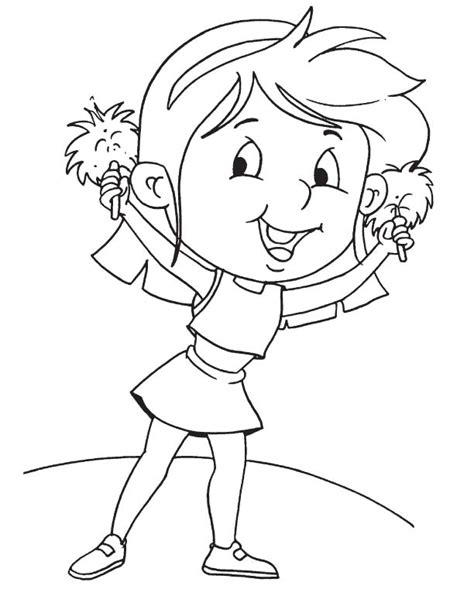 good cheerleading free colouring pages